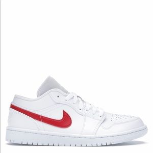 "🥤*NEW* Air Jordan 1 Low ""White University Red""(W)"